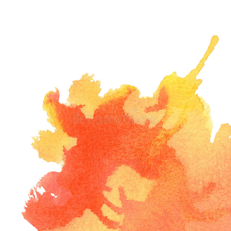 Fondo anaranjado de la acuarela libre illustration