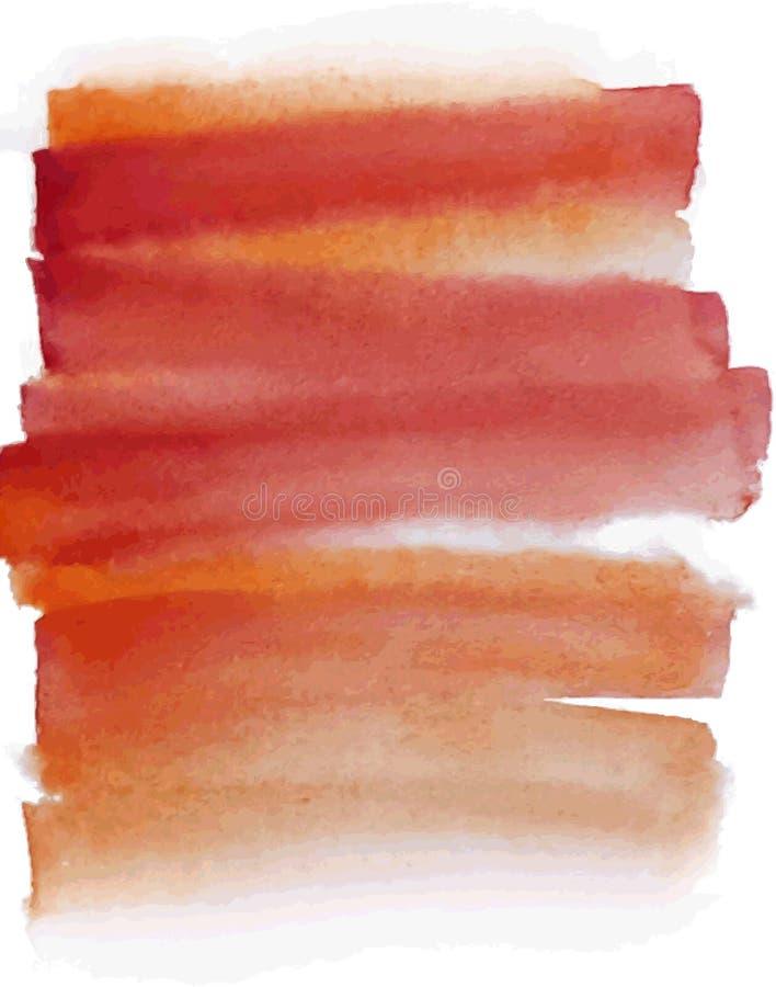 Fondo anaranjado de la acuarela para su diseño stock de ilustración