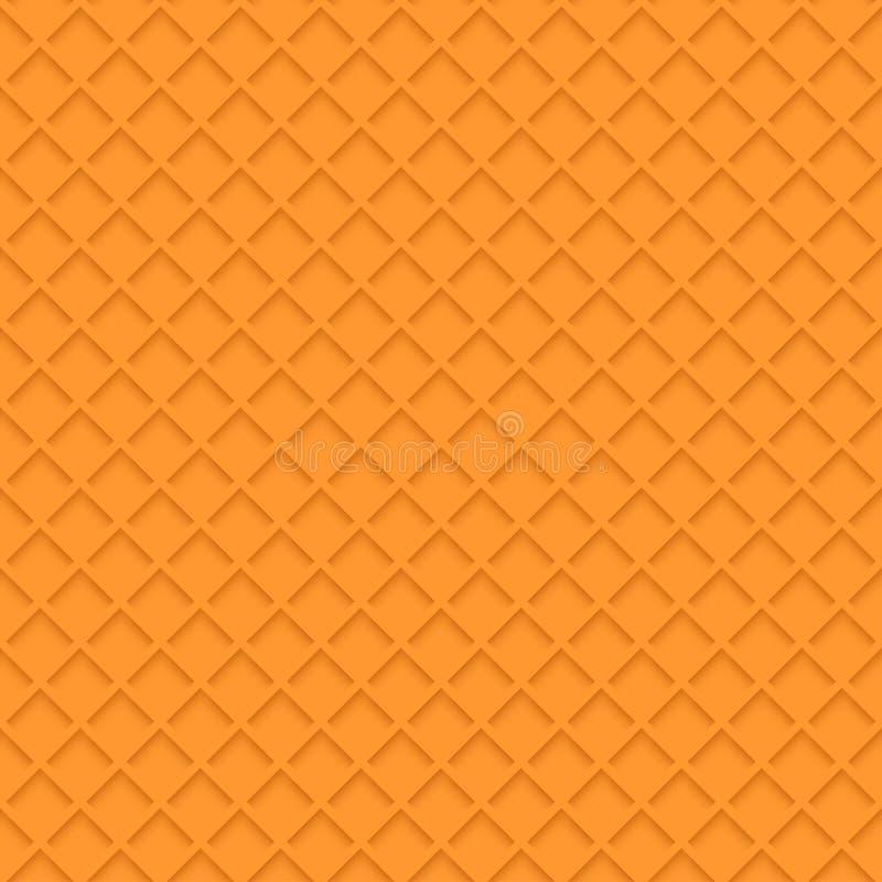 Fondo anaranjado de la galleta stock de ilustración