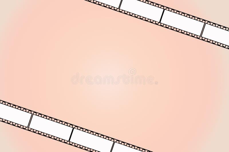 Fondo anaranjado de la película foto de archivo