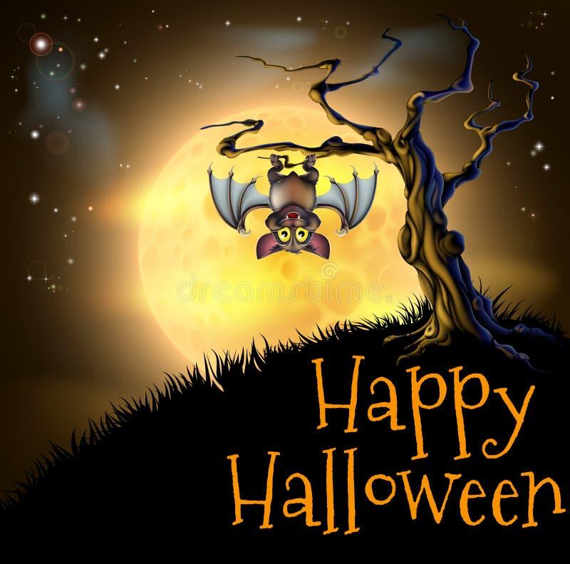 Fondo anaranjado de palo de vampiro de Halloween libre illustration