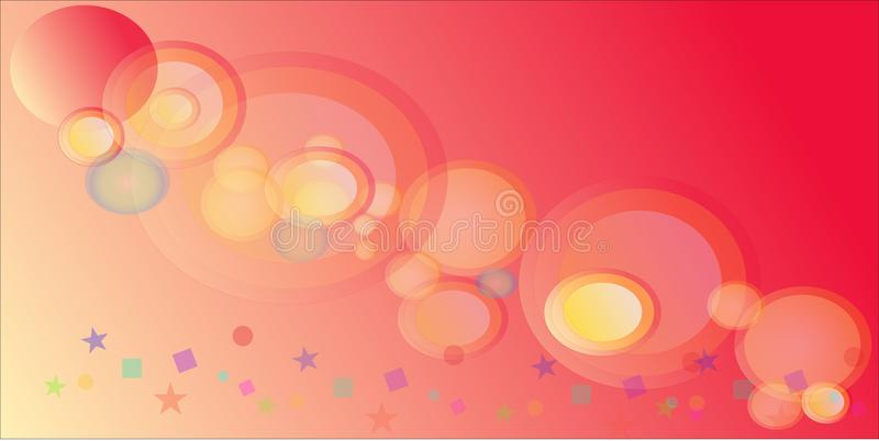 Fondo anaranjado del círculo stock de ilustración