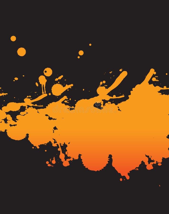 Fondo anaranjado del chapoteo ilustración del vector