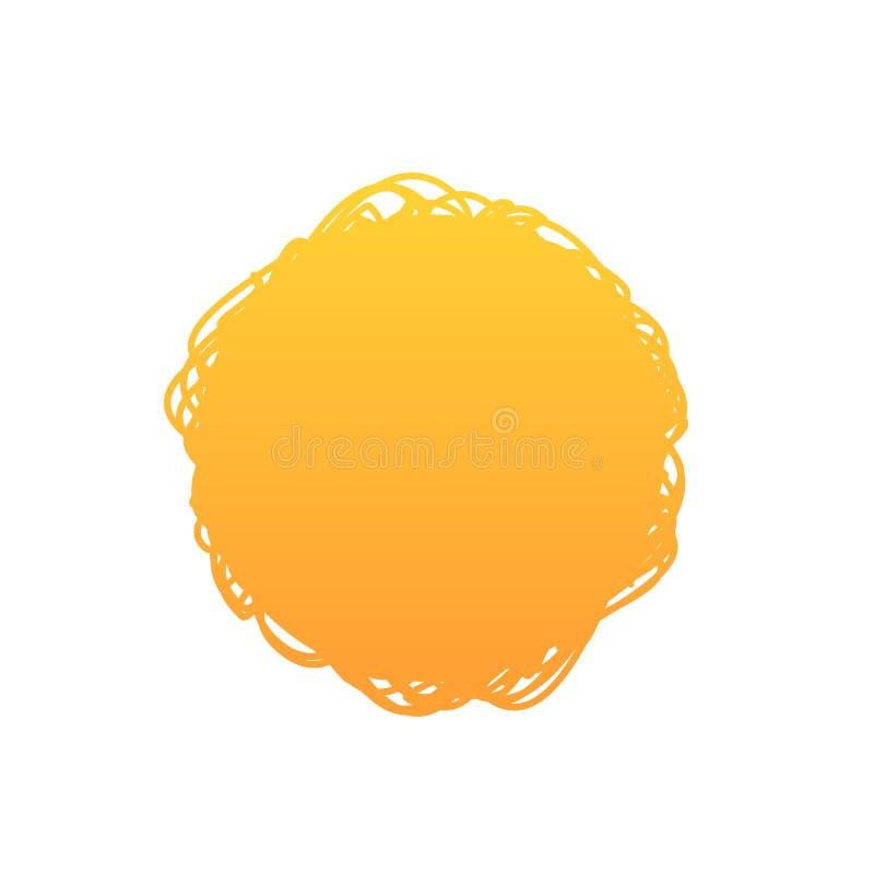 Fondo anaranjado del garabato del círculo del extracto de la pendiente, ejemplo del vector libre illustration