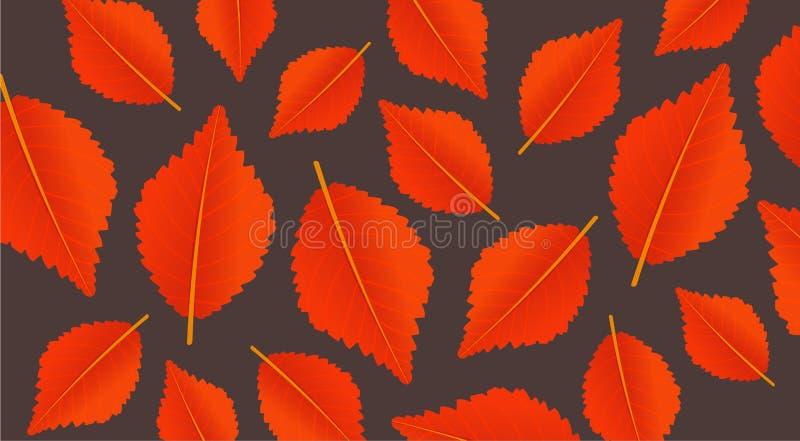 Fondo anaranjado del otoño con las hojas Modelo moderno para la venta que hace compras, el cartel del promo o la bandera del web  stock de ilustración