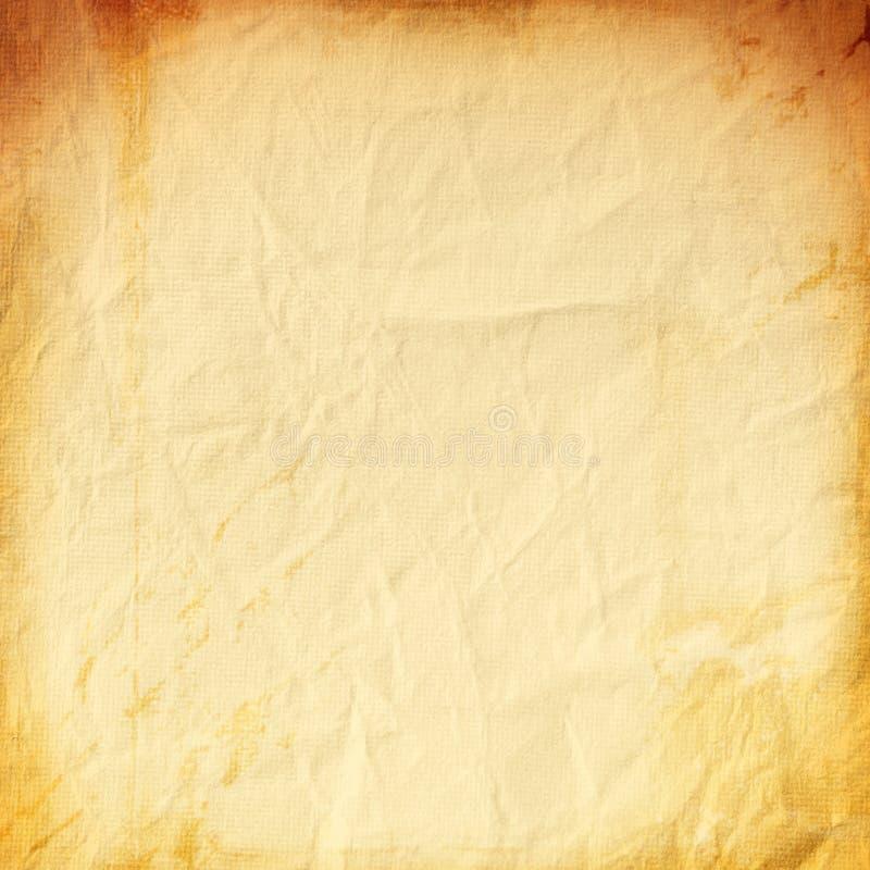 Fondo anaranjado del papel viejo del grunge, amarillo, áspero, amarillo, cru imagen de archivo libre de regalías