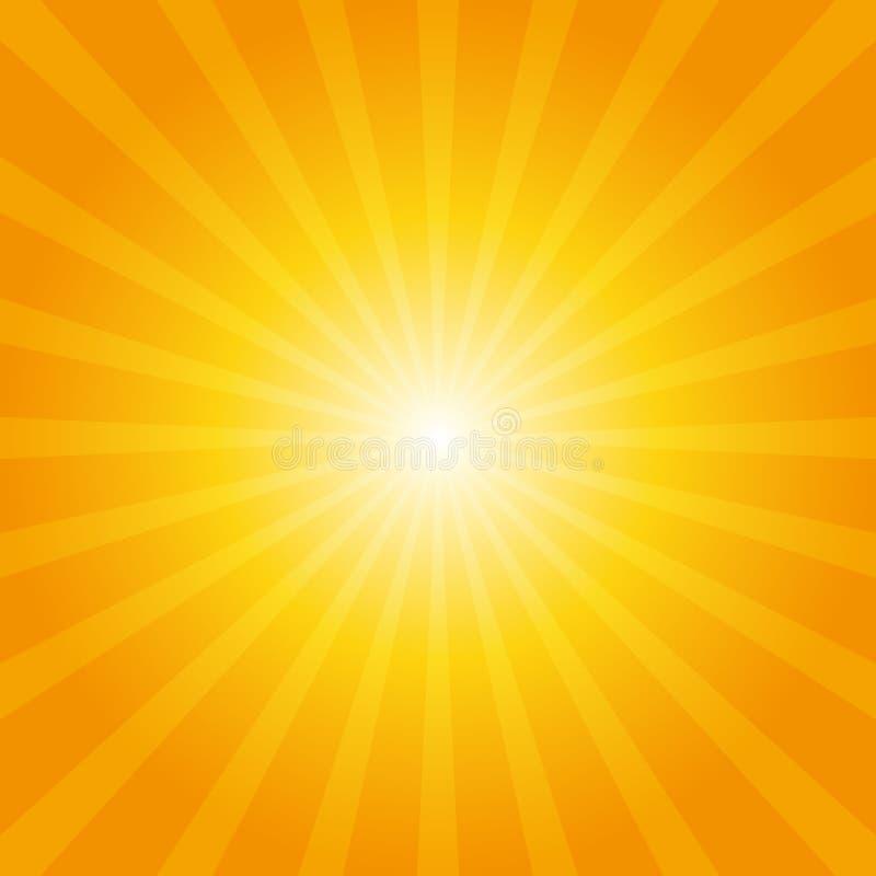 Fondo anaranjado del resplandor solar stock de ilustración
