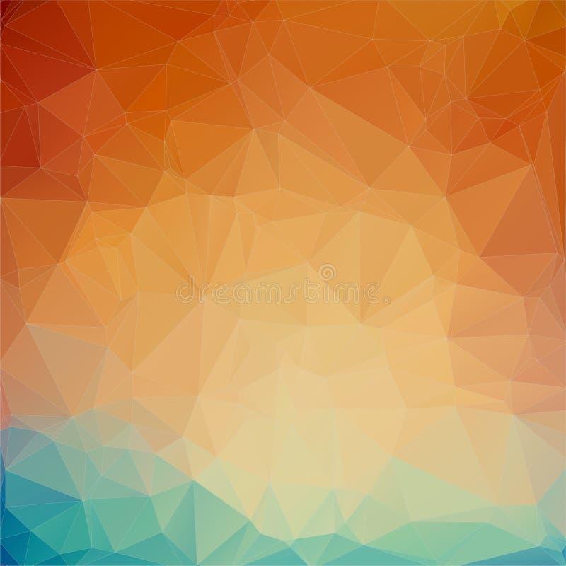 Fondo anaranjado del triángulo del trullo ilustración del vector