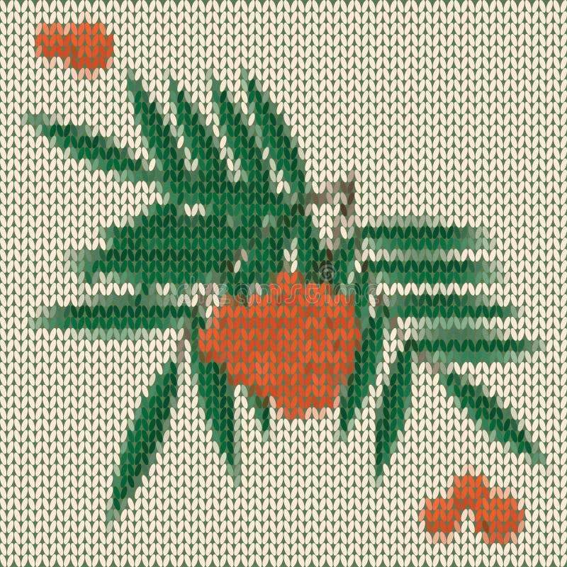 Fondo anaranjado hecho punto del vector del serbal de la historieta libre illustration