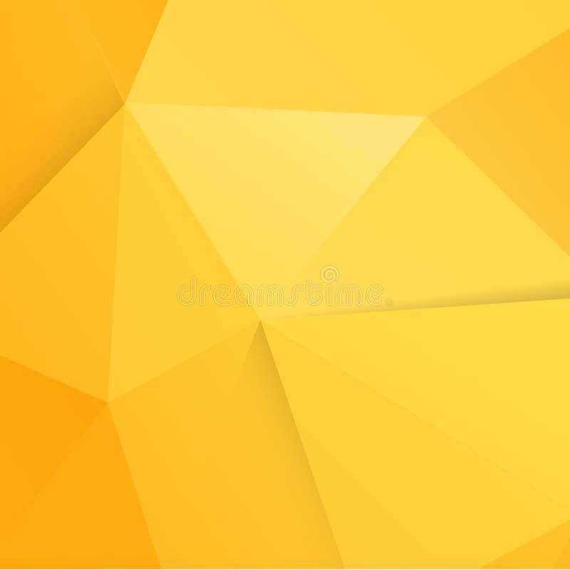 Fondo anaranjado moderno abstracto del polígono libre illustration
