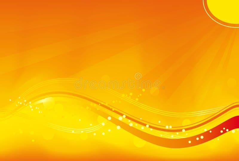 Fondo anaranjado ondulado ilustración del vector