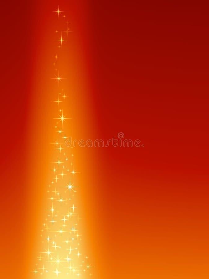 Fondo anaranjado rojo festivo con las estrellas mágicas libre illustration