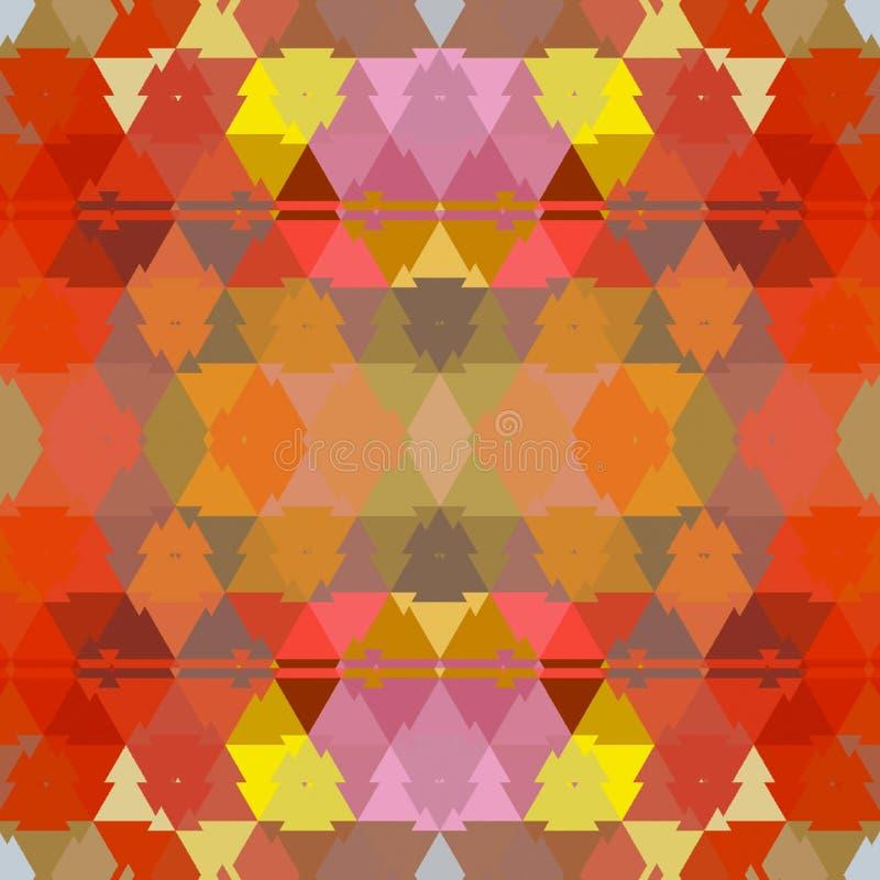 Fondo anaranjado texturizado de los triángulos del otoño del vintage libre illustration