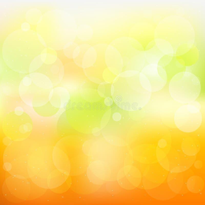Fondo anaranjado y amarillo abstracto stock de ilustración