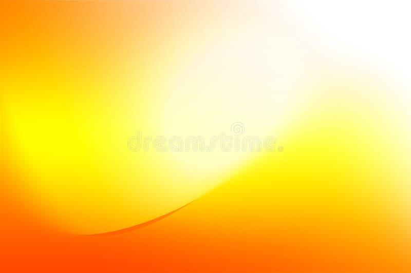 Fondo anaranjado y amarillo con las curvas ilustración del vector