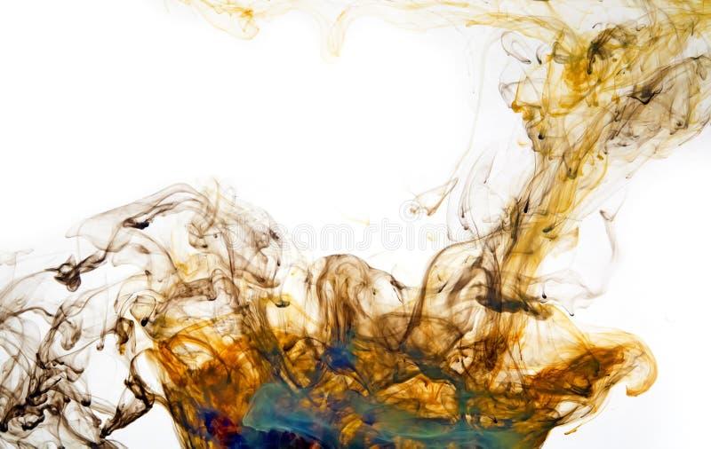 Fondo anaranjado y azul de la llama del extracto de la energía imagenes de archivo