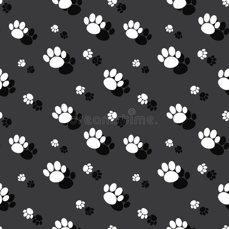 Fondo animal de Paw Print Wild Nature Seamless libre illustration
