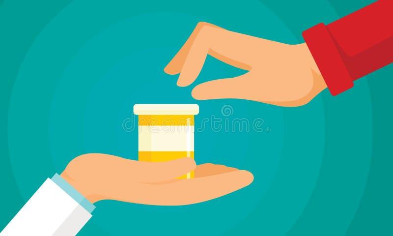 Fondo antibiótico del concepto del tratamiento, estilo plano ilustración del vector