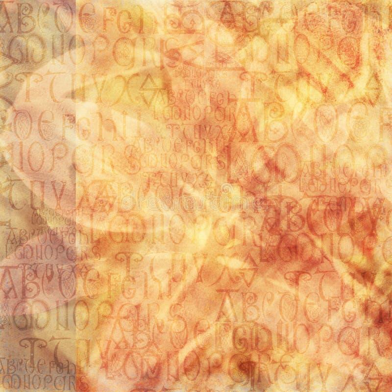 Fondo antiguo del alfabeto imagenes de archivo