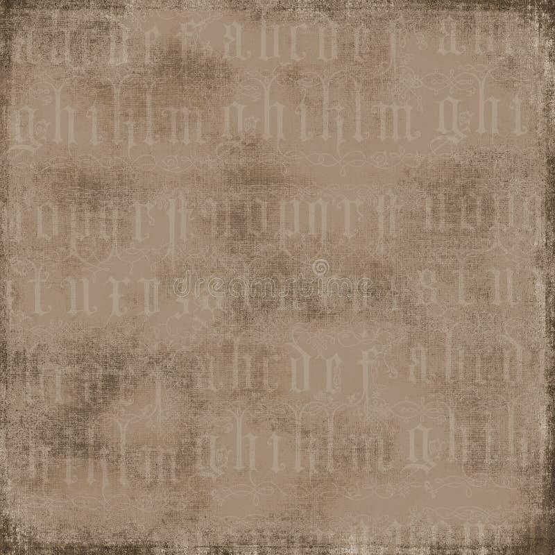 Fondo antiguo del alfabeto imagen de archivo