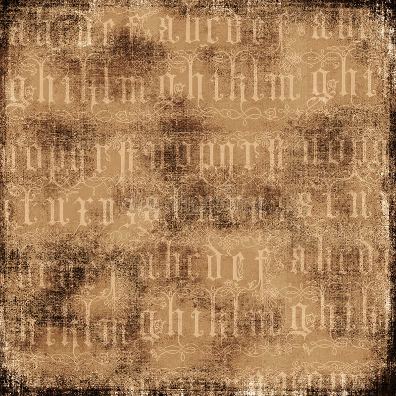 Fondo antiguo del alfabeto libre illustration