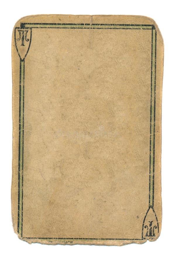 Fondo antiguo del papel del naipe del as con la línea negra imagen de archivo libre de regalías