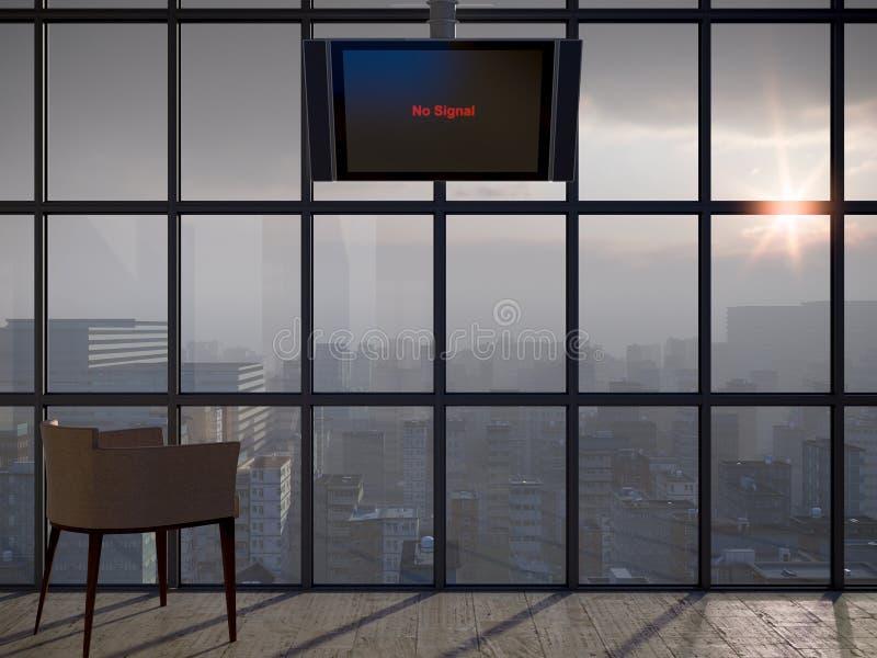 Fondo apocalíptico del concepto ilustración del vector