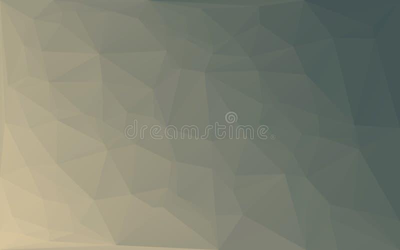 Fondo approssimativo del mosaico del poligono di giallo astratto di vettore illustrazione vettoriale