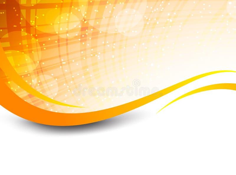 Fondo arancio astratto illustrazione vettoriale