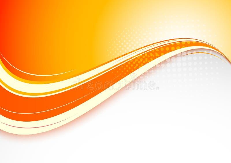 Fondo arancio astratto royalty illustrazione gratis