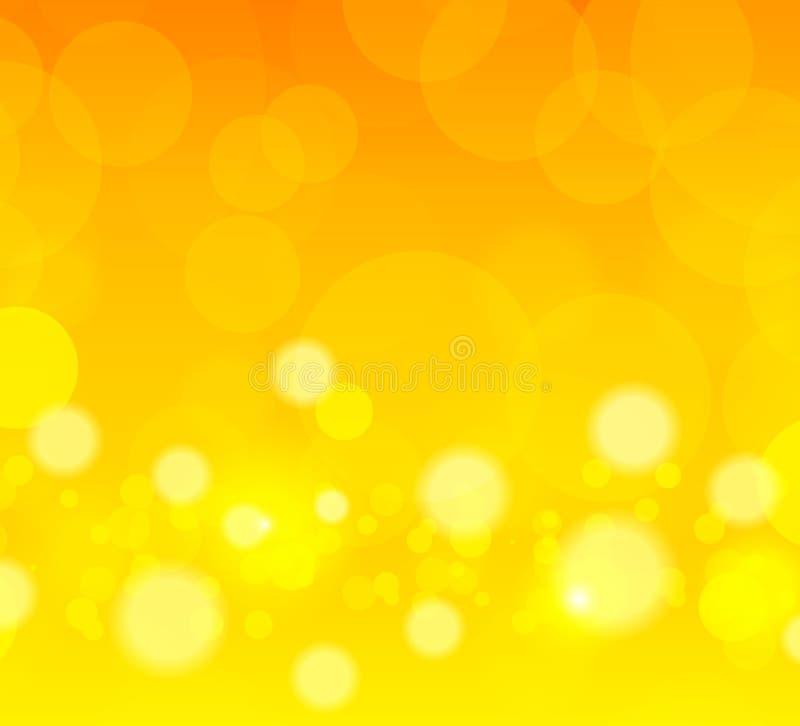 Fondo arancio astratto illustrazione di stock