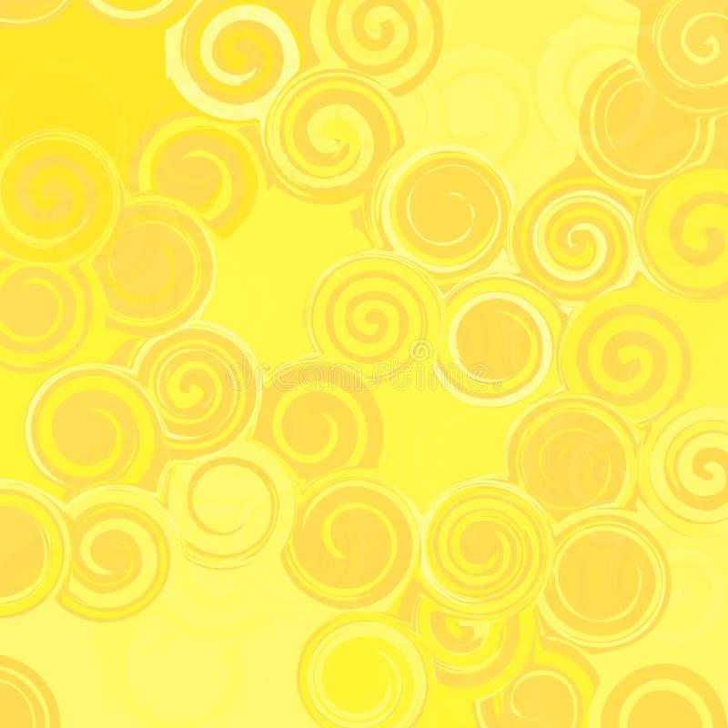 Fondo arancio astratto con i cerchi dai monogrammi royalty illustrazione gratis