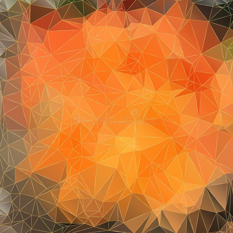 Fondo arancio astratto con i triangoli illustrazione di stock