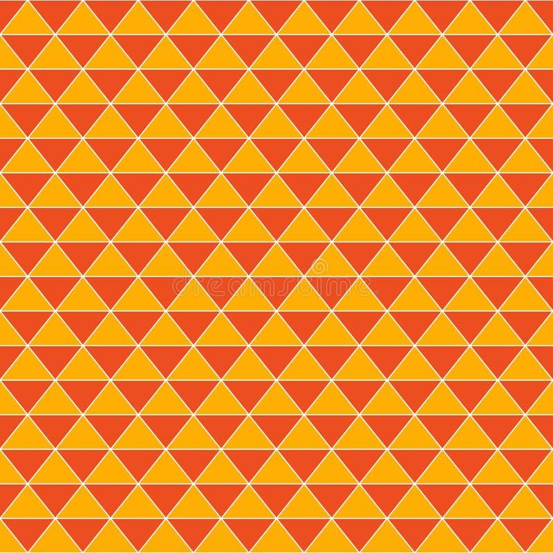 Fondo arancio d'annata dei triangoli astratti illustrazione vettoriale