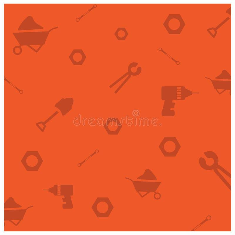 Fondo arancio del modello di festa del lavoro felice illustrazione di stock