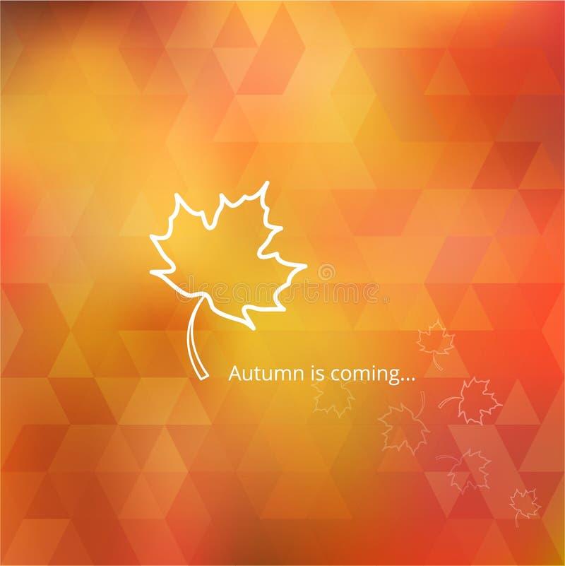 Fondo arancio di autunno e giallo geometrico con immagine stock