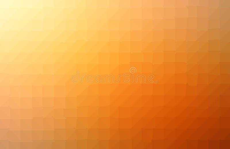 Fondo arancio geometrico con i poligoni triangolari Progettazione astratta Illustrazione di vettore royalty illustrazione gratis
