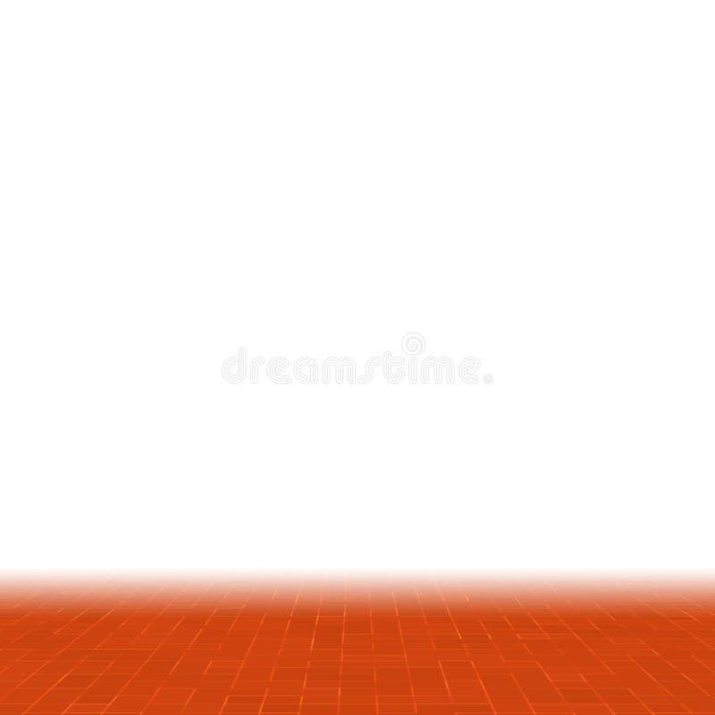 Fondo arancio, giallo e rosso geometrico variopinto del modello dell'estratto, del gres di mosaico di struttura, parete moderna d illustrazione vettoriale