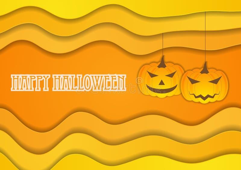Fondo arancio luminoso di Halloween di autunno illustrazione di stock