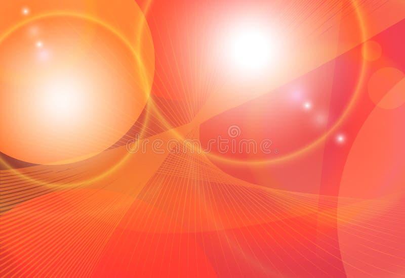 Fondo arancio luminoso di vettore di fantasia illustrazione di stock