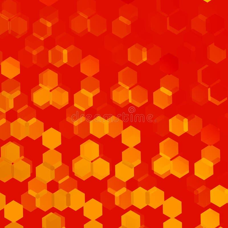 Fondo arancio per i materiali illustrativi di progettazione Aletta di filatoio o copertura astratta illustrazione vettoriale