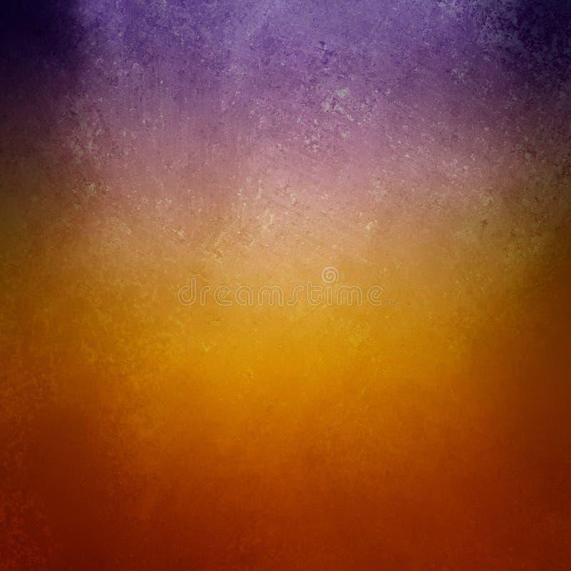 Fondo arancio porpora e dorato scuro con struttura d'annata, il bello contesto elegante e bello illustrazione vettoriale