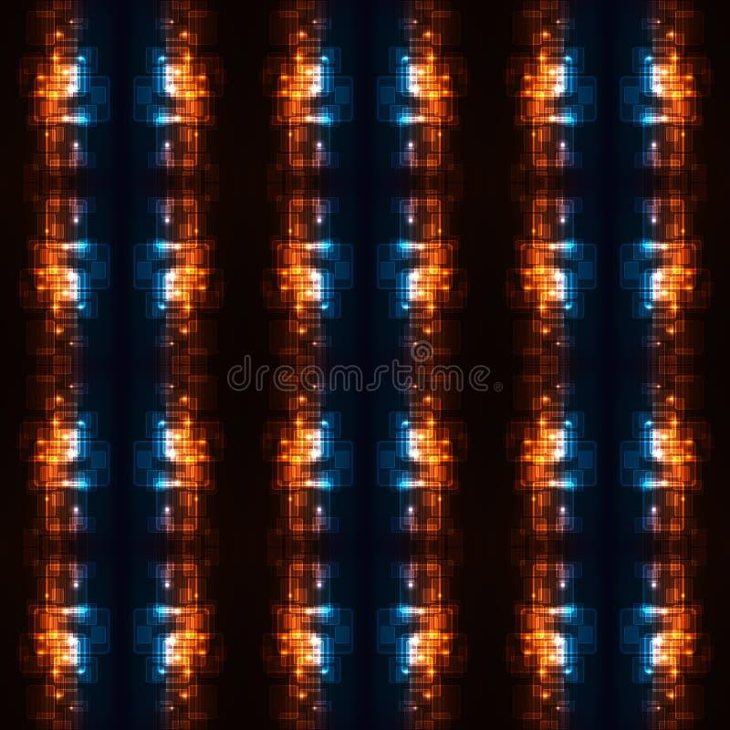 fondo ardiente enérgico moderno multicolor único generado por ordenador de los modelos de los fractales 3d ilustración del vector