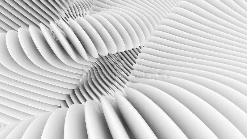 Fondo arquitectónico abstracto blanco imagenes de archivo