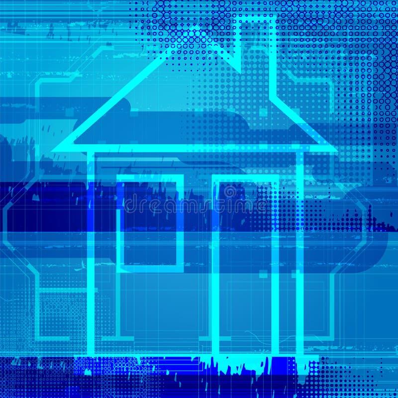 Fondo arquitectónico abstracto del hogar del modelo libre illustration