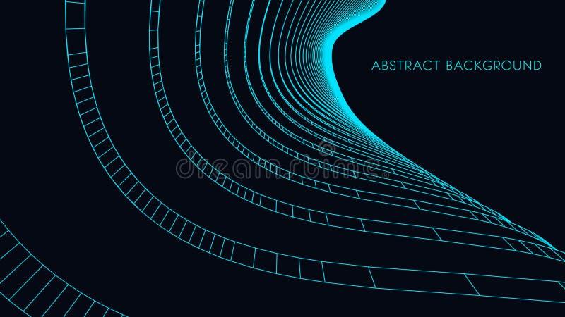 fondo arquitectónico 3d ejemplo abstracto del vector diseño futurista abstracto 3D para la presentación del negocio ilustración del vector