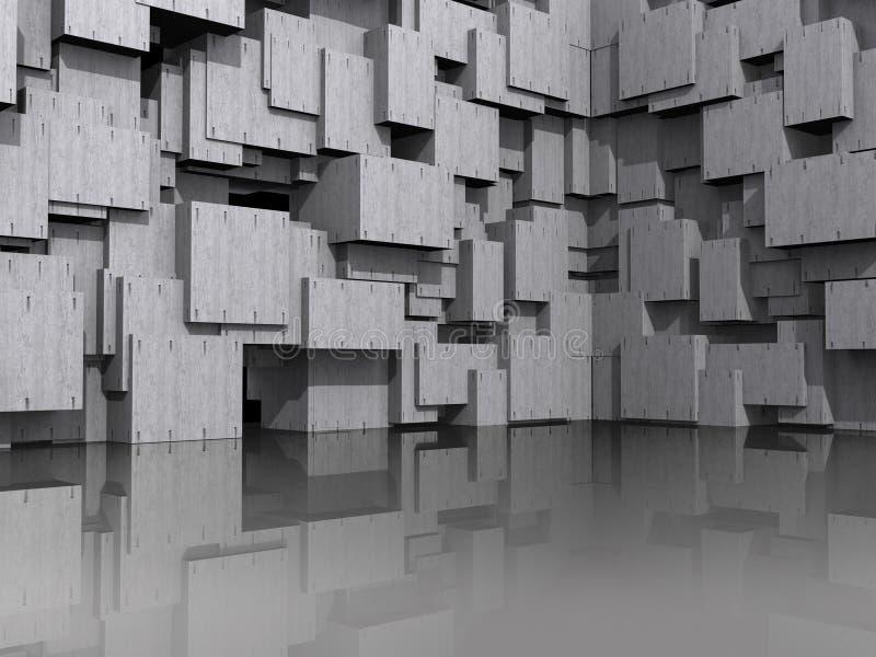 fondo arquitectónico modelo 3D ilustración del vector