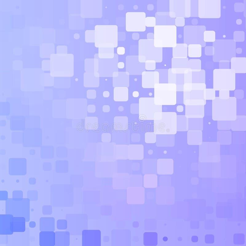 Fondo arrotondato d'ardore bianco blu lilla delle mattonelle royalty illustrazione gratis