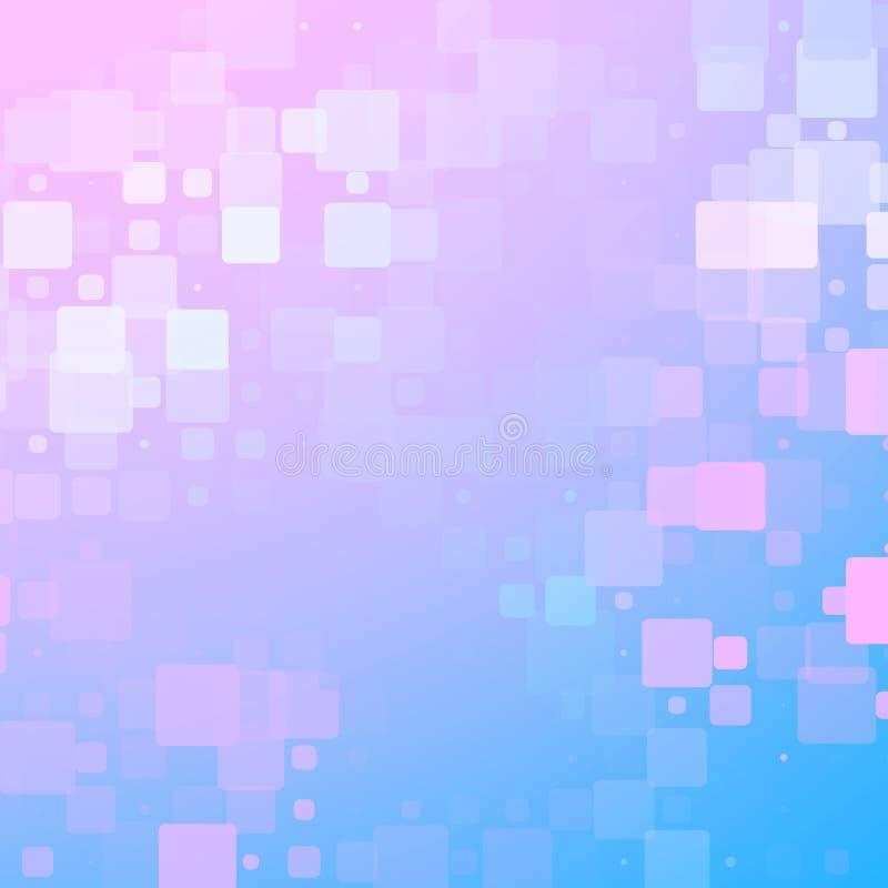 Fondo arrotondato d'ardore rosa bianco porpora blu delle mattonelle illustrazione di stock
