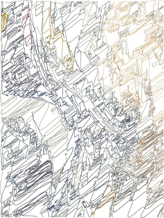 Fondo artístico abstracto con transiciones del color de ocre a azul-gris con el uso de elementos decorativos en el estilo de la h libre illustration